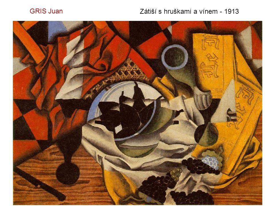 GRIS Juan Zátiší s hruškami a vínem - 1913