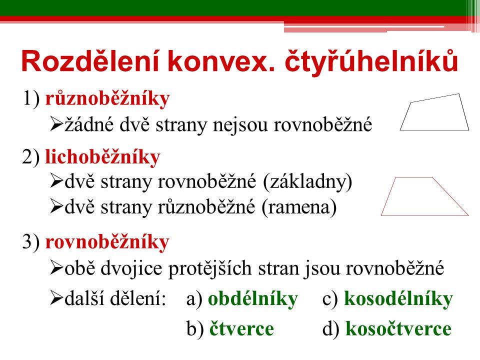 Rozdělení konvex. čtyřúhelníků