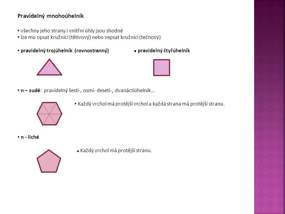 Pravidelný mnohoúhelník