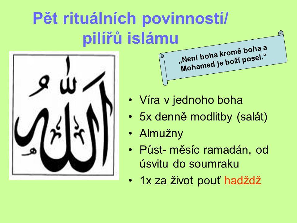 Pět rituálních povinností/ pilířů islámu