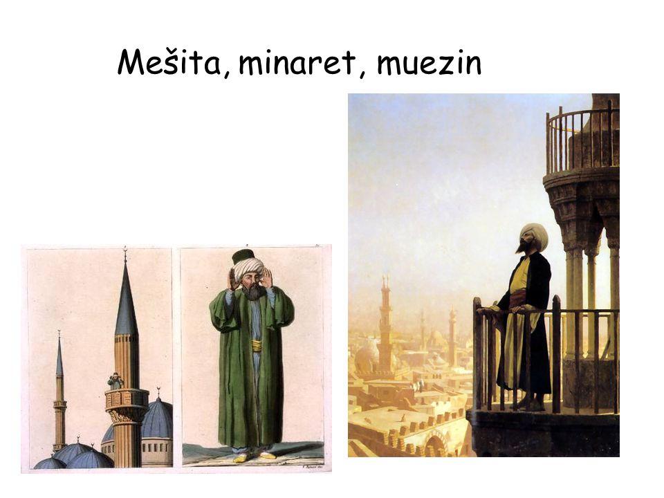 Mešita, minaret, muezin