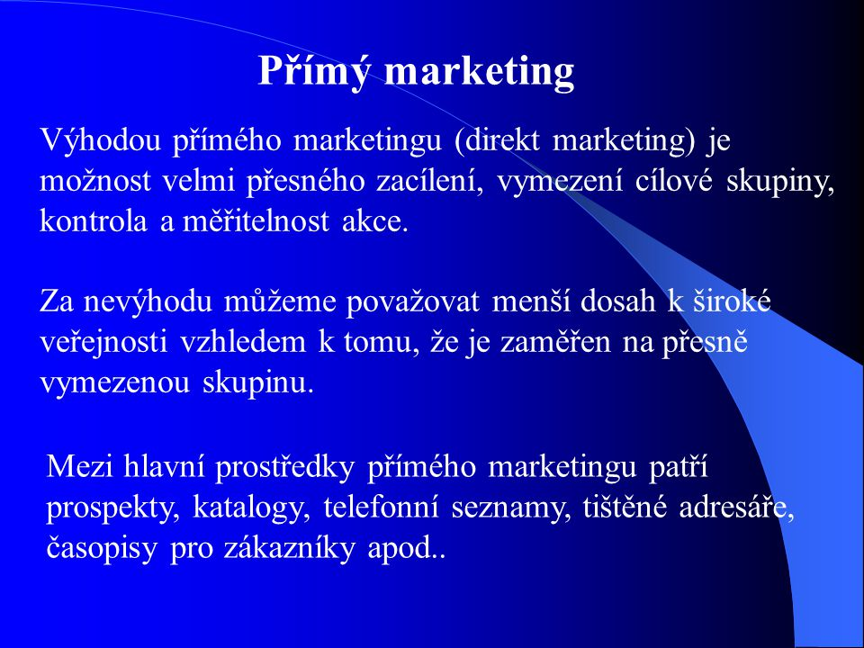 Přímý marketing