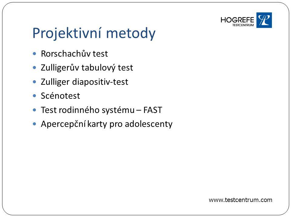 Projektivní metody Rorschachův test Zulligerův tabulový test