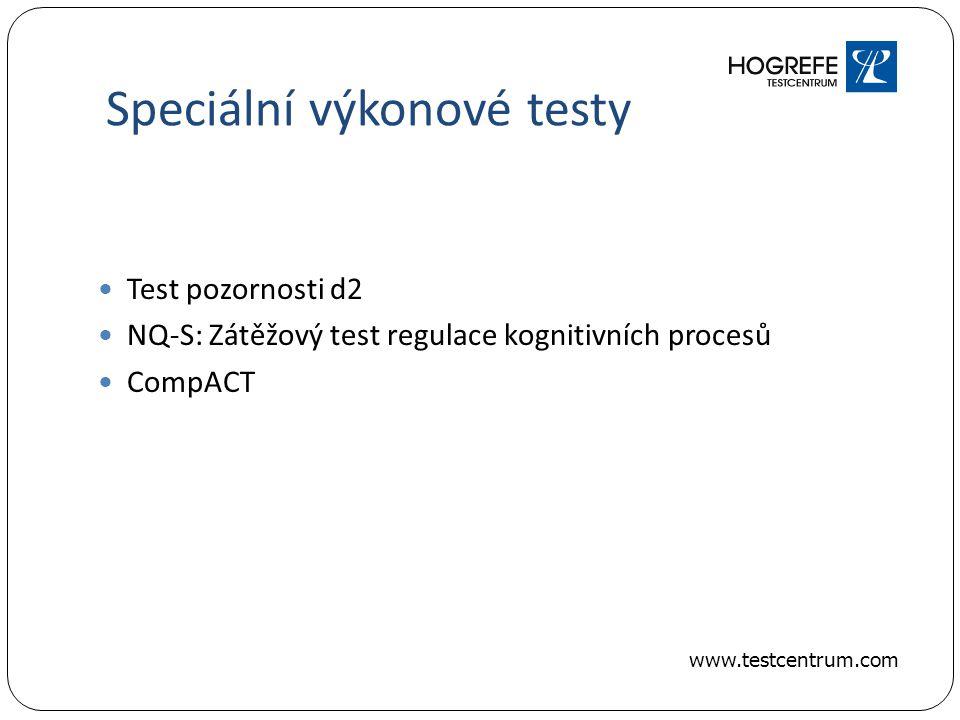 Speciální výkonové testy