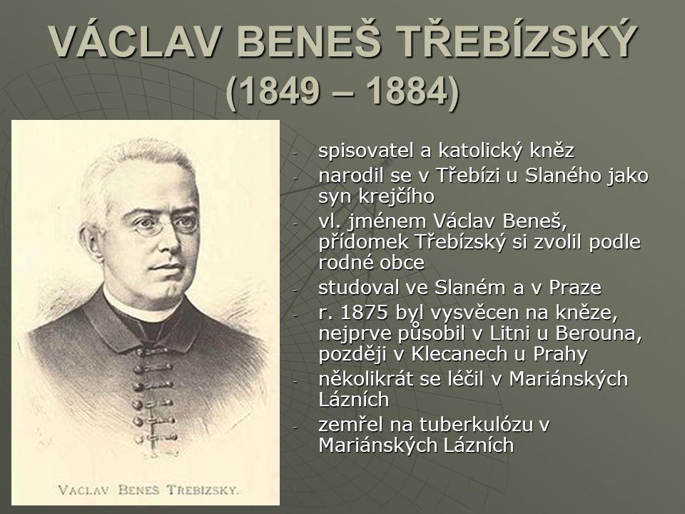VÁCLAV BENEŠ TŘEBÍZSKÝ (1849 – 1884)