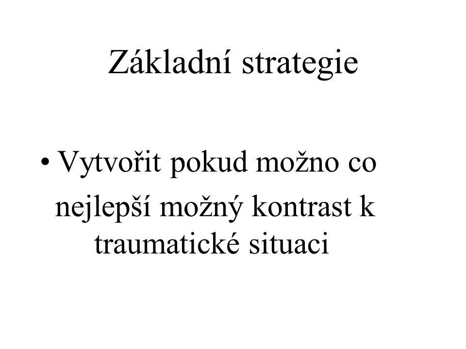 Základní strategie Vytvořit pokud možno co