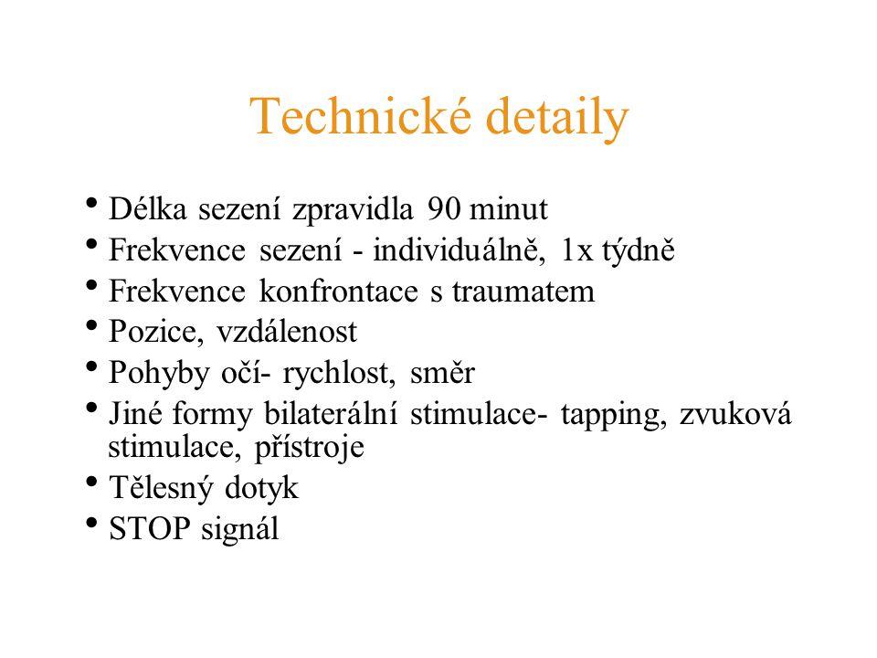 Technické detaily Délka sezení zpravidla 90 minut