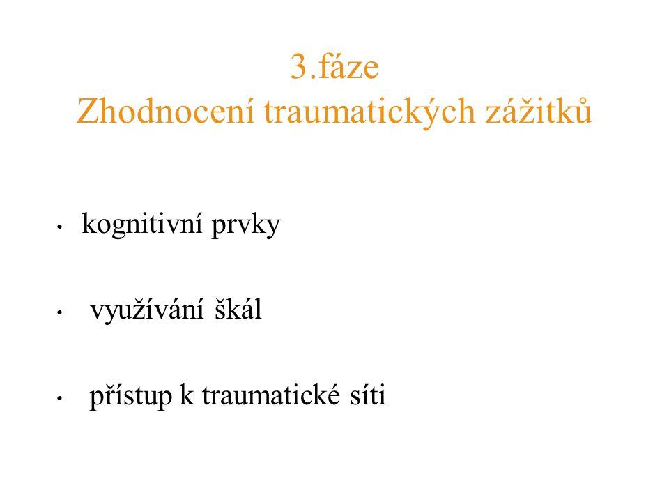 3.fáze Zhodnocení traumatických zážitků