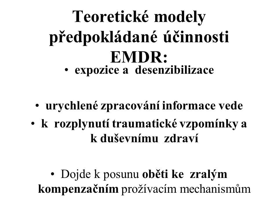 Teoretické modely předpokládané účinnosti EMDR: