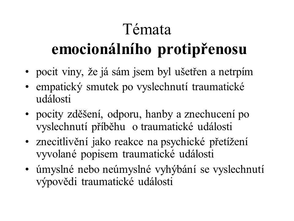 Témata emocionálního protipřenosu