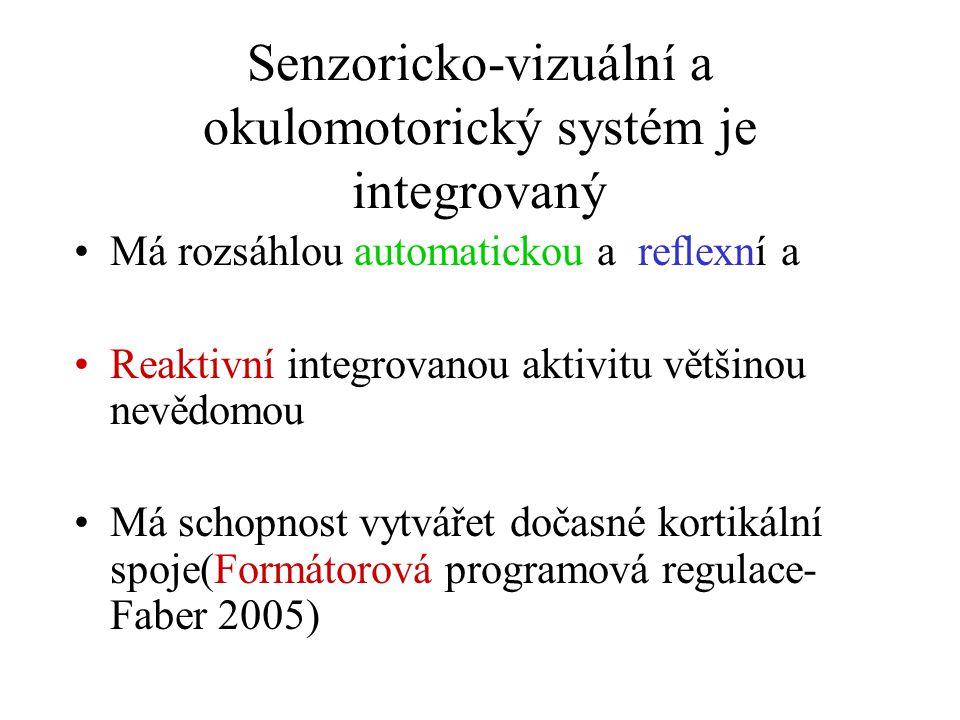 Senzoricko-vizuální a okulomotorický systém je integrovaný