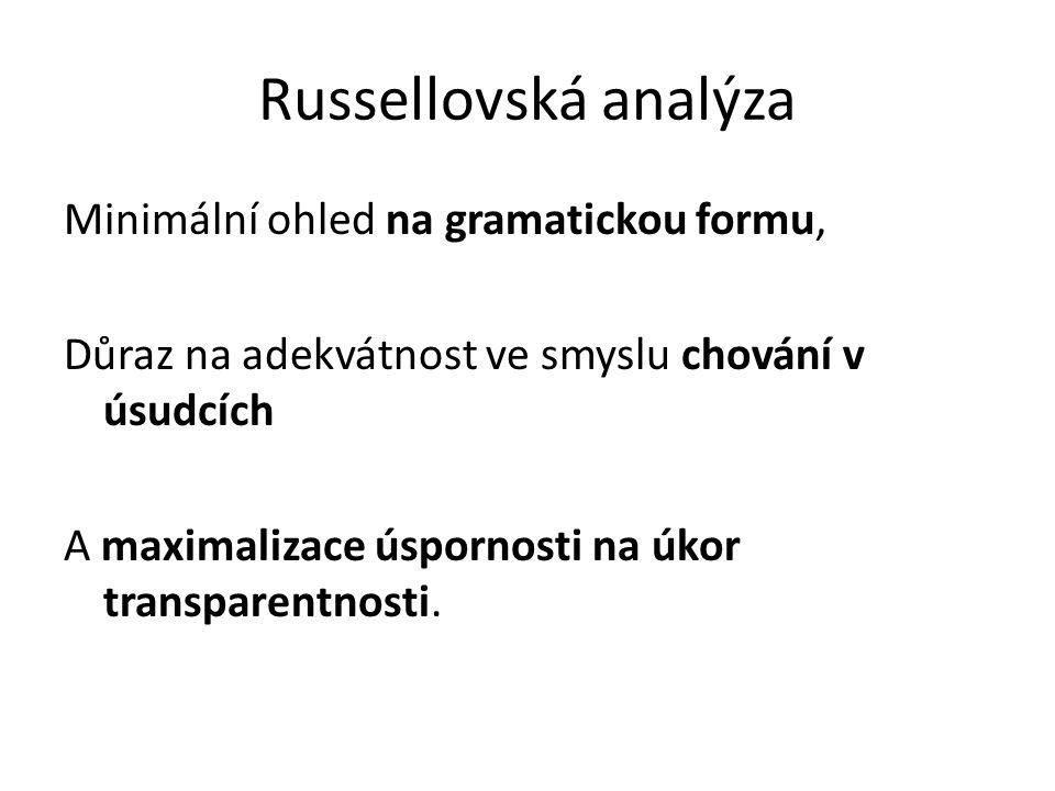 Russellovská analýza