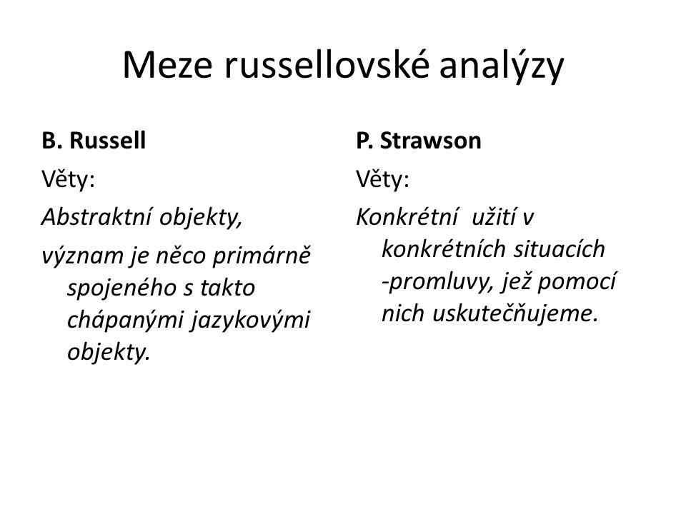 Meze russellovské analýzy