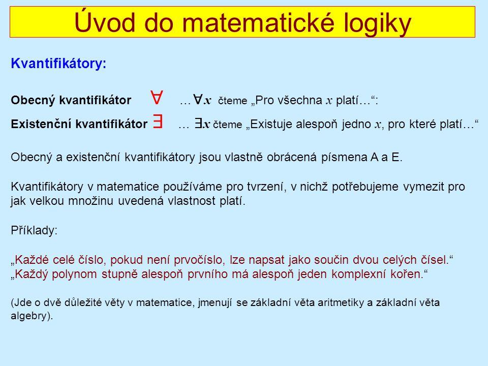 Úvod do matematické logiky