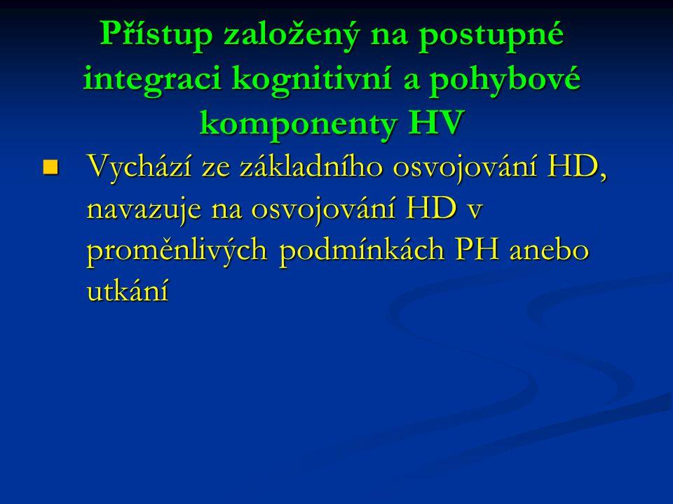 Přístup založený na postupné integraci kognitivní a pohybové komponenty HV