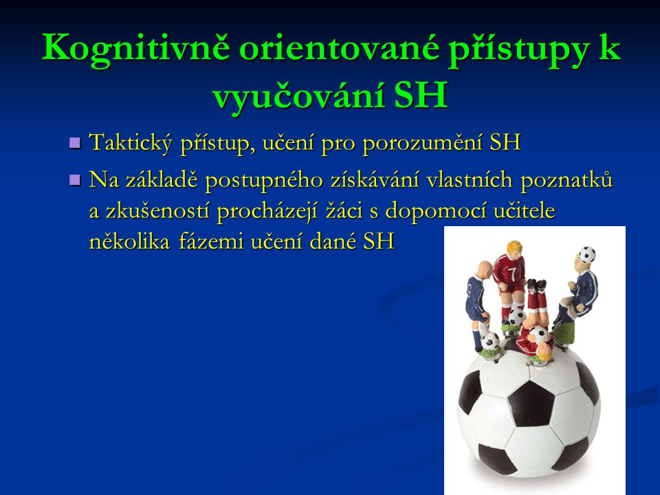 Kognitivně orientované přístupy k vyučování SH