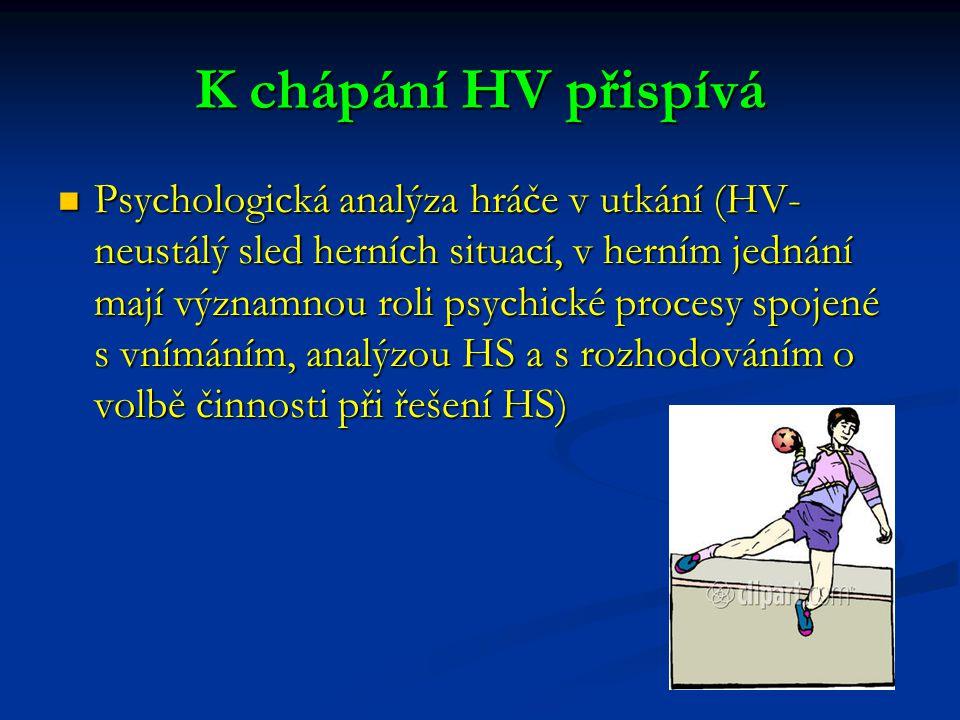 K chápání HV přispívá