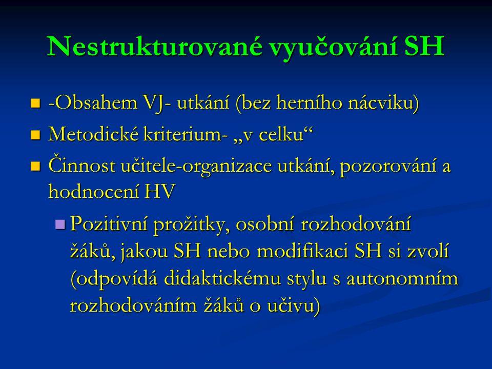Nestrukturované vyučování SH