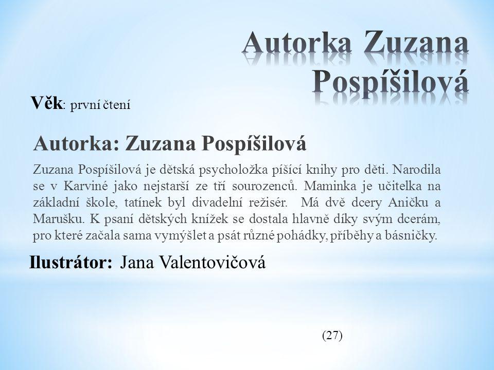 Autorka Zuzana Pospíšilová