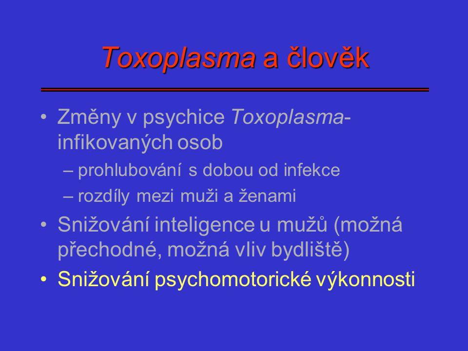 Toxoplasma a člověk Změny v psychice Toxoplasma-infikovaných osob