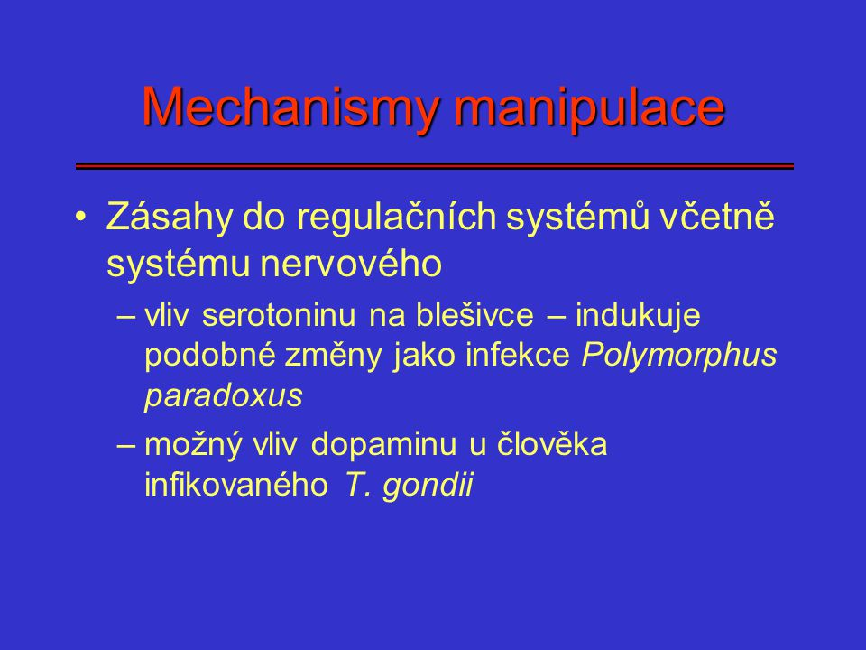Mechanismy manipulace