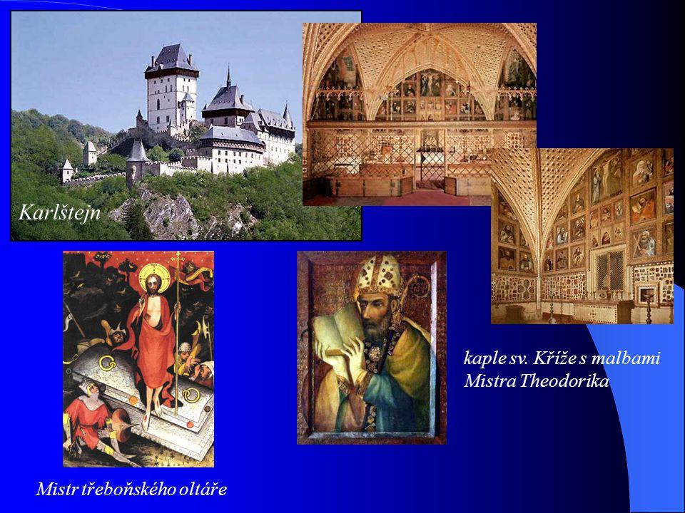 Karlštejn kaple sv. Kříže s malbami Mistra Theodorika