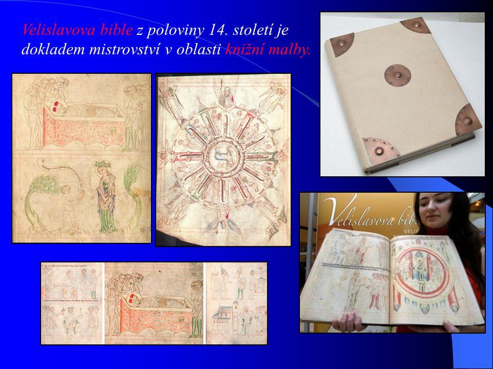 Velislavova bible z poloviny 14. století je