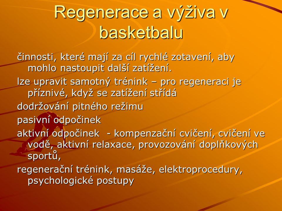 Regenerace a výživa v basketbalu