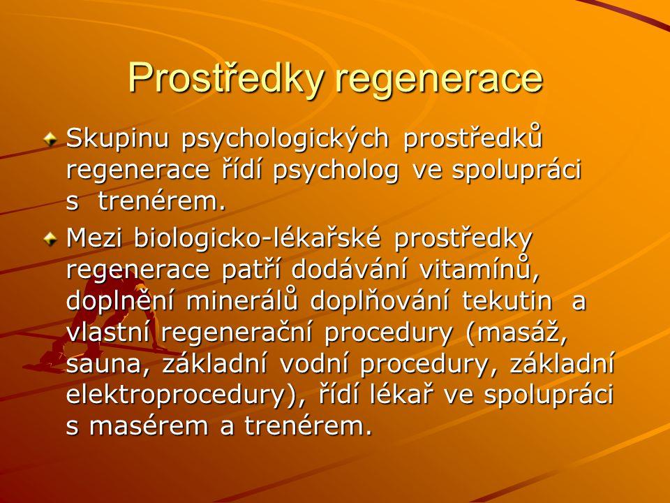 Prostředky regenerace