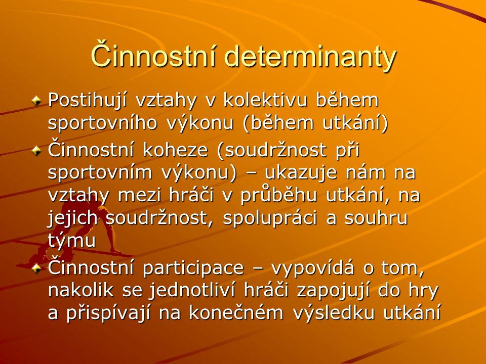 Činnostní determinanty