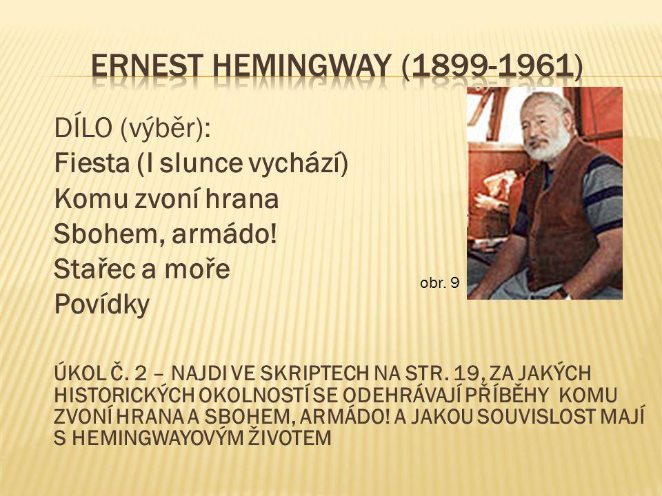 ERNEST HEMINGWAY (1899-1961) Fiesta (I slunce vychází)