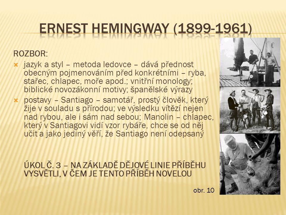 ERNEST HEMINGWAY (1899-1961) ROZBOR: