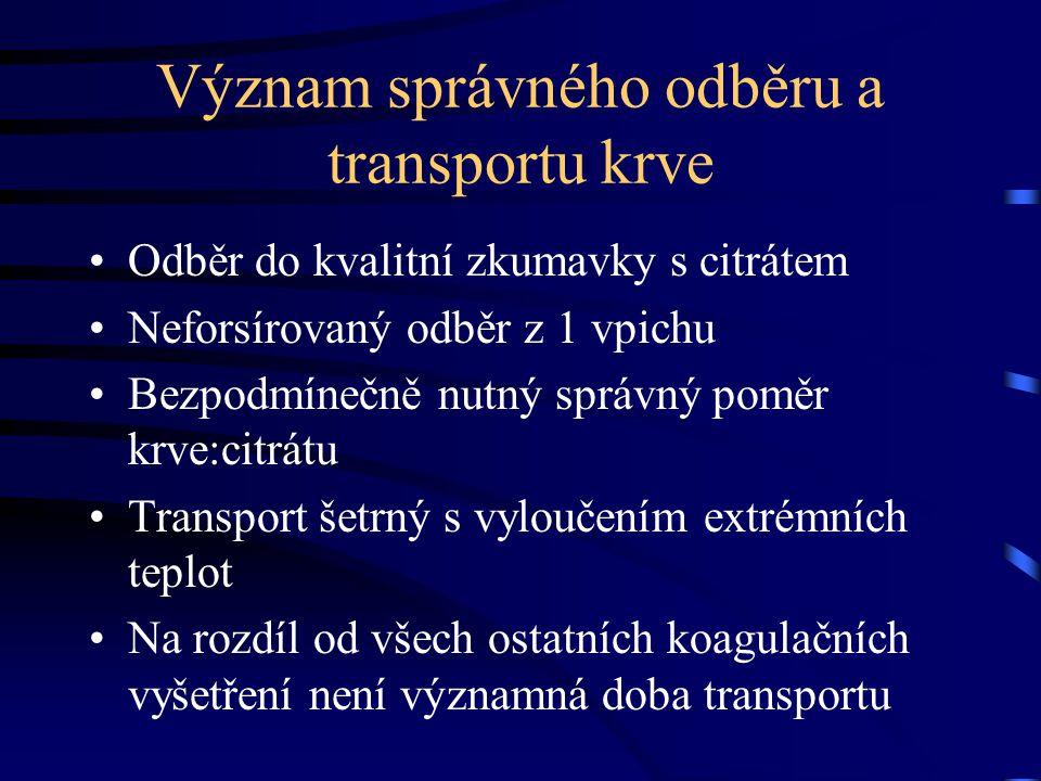 Význam správného odběru a transportu krve