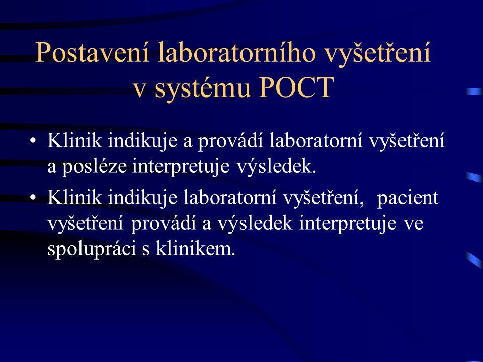 Postavení laboratorního vyšetření v systému POCT