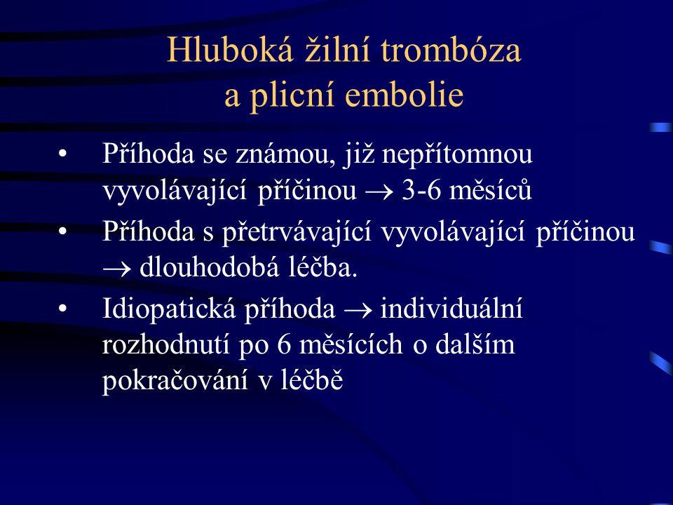 Hluboká žilní trombóza a plicní embolie