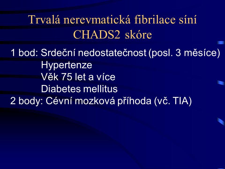 Trvalá nerevmatická fibrilace síní CHADS2 skóre