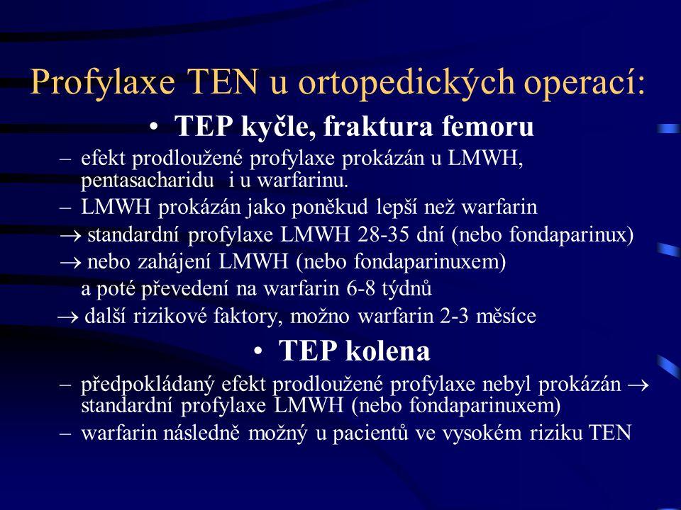 Profylaxe TEN u ortopedických operací: