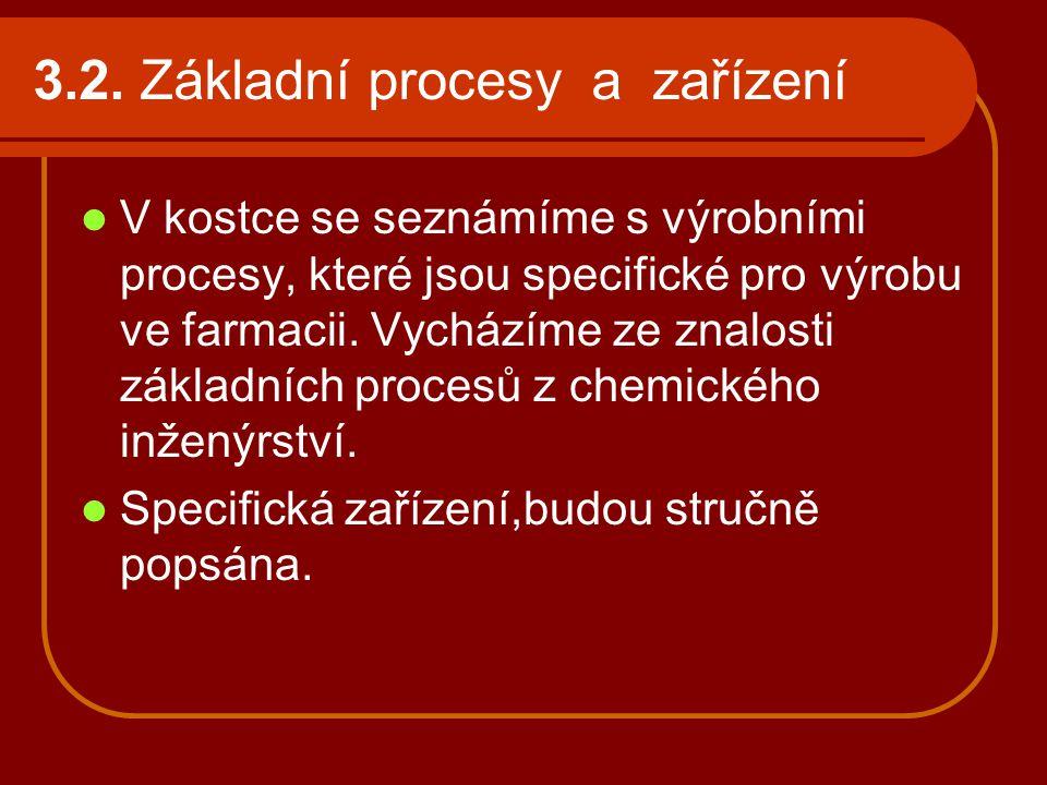 3.2. Základní procesy a zařízení