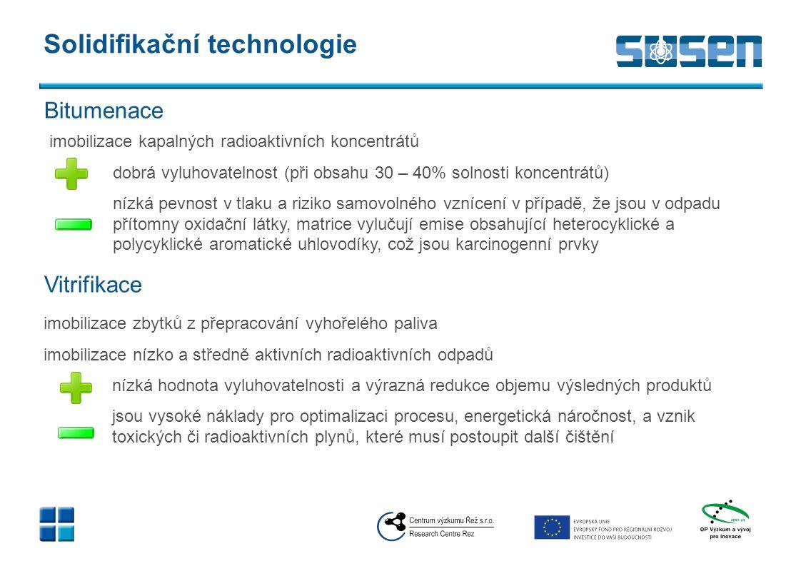 Solidifikační technologie