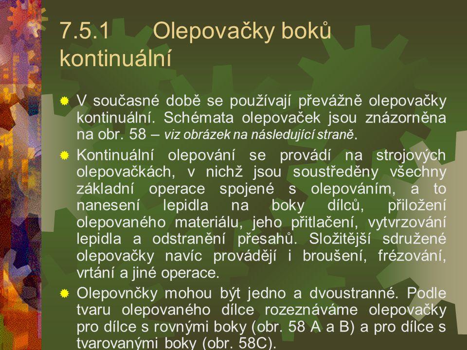 7.5.1 Olepovačky boků kontinuální