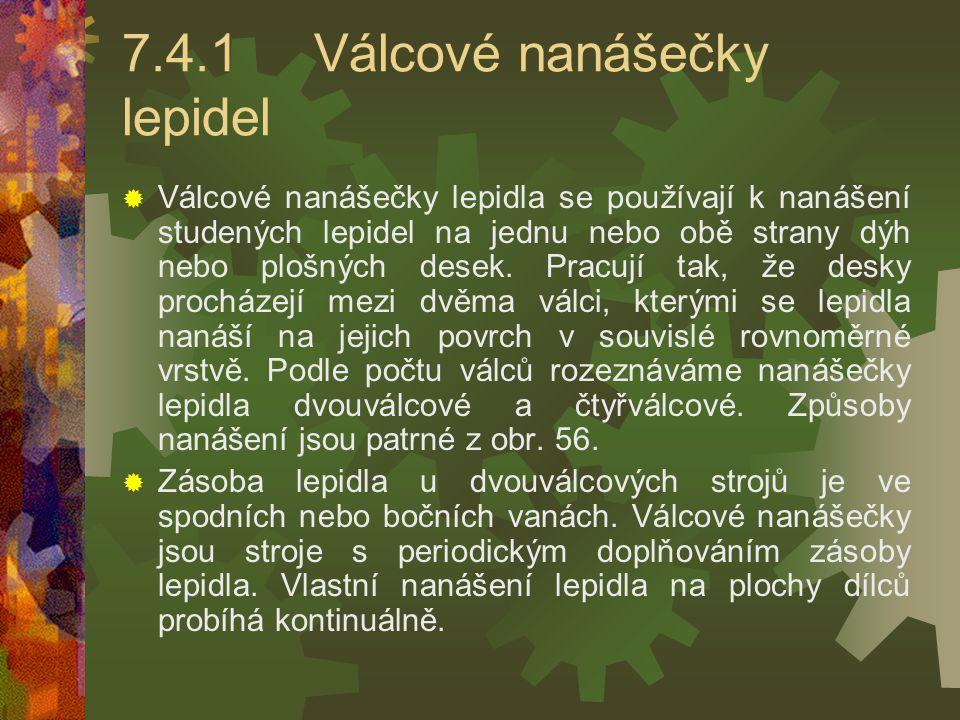 7.4.1 Válcové nanášečky lepidel
