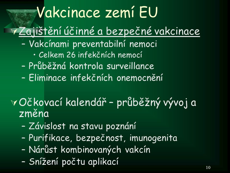 Vakcinace zemí EU Zajištění účinné a bezpečné vakcinace