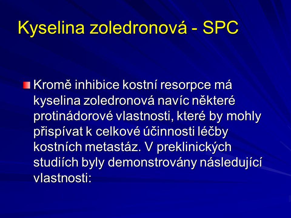 Kyselina zoledronová - SPC