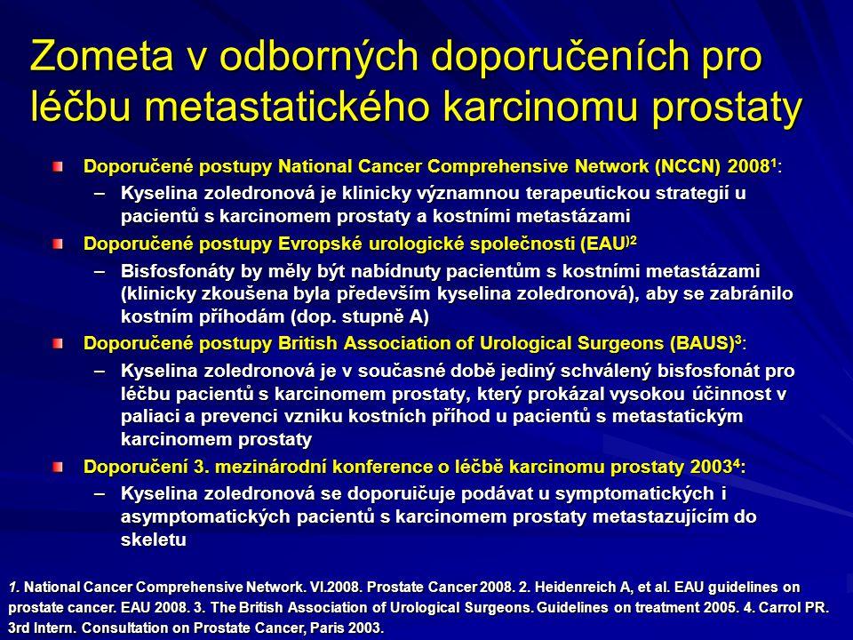 Zometa v odborných doporučeních pro léčbu metastatického karcinomu prostaty