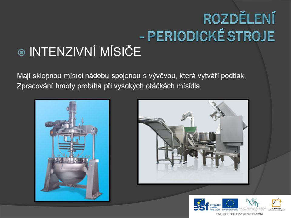 Rozdělení - periodické stroje
