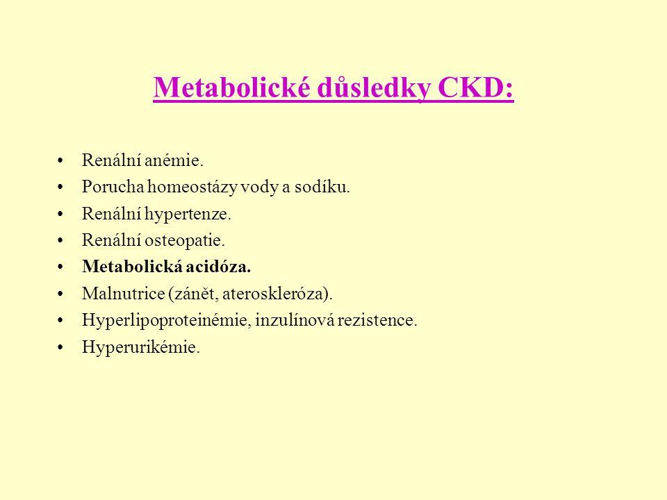 Metabolické důsledky CKD: