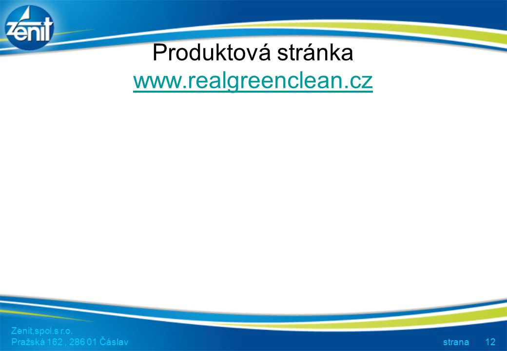 Produktová stránka www.realgreenclean.cz