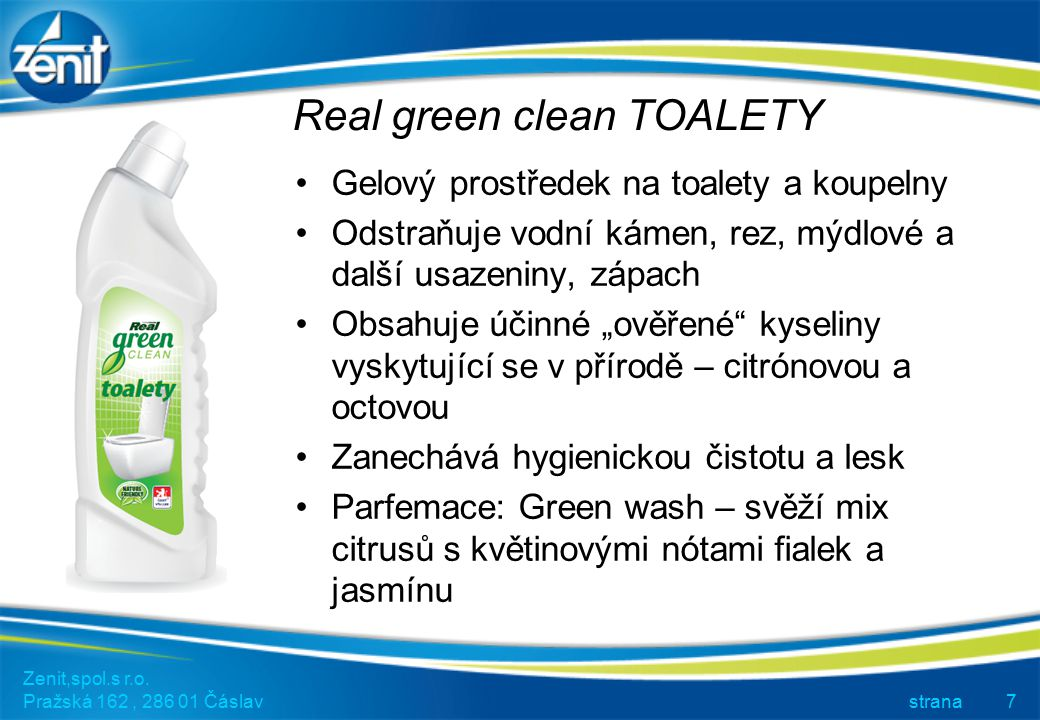 Real green clean TOALETY