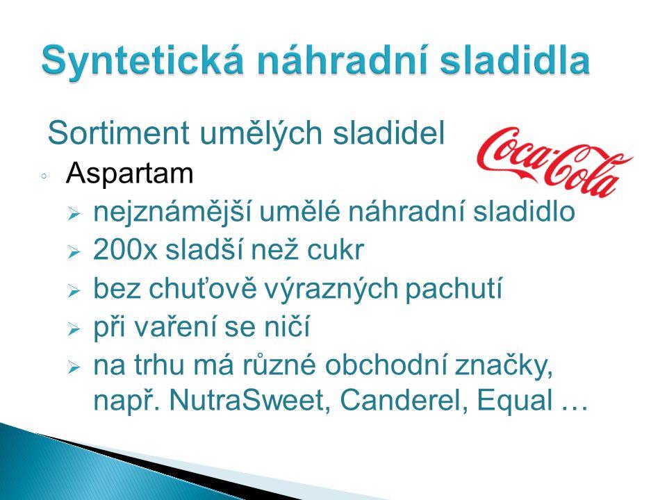 Syntetická náhradní sladidla