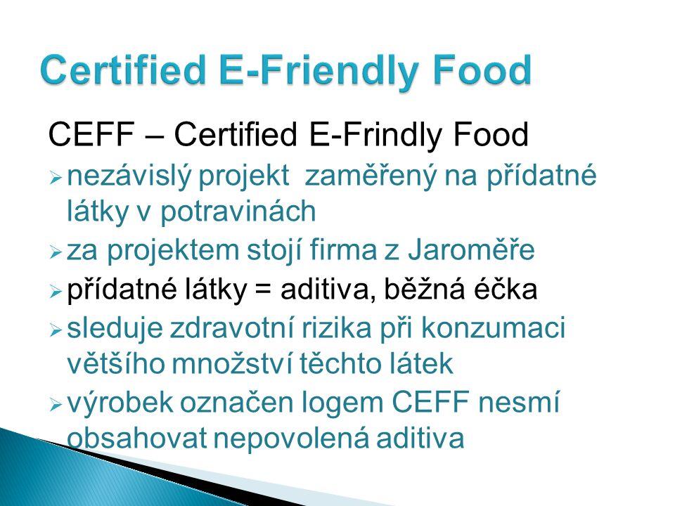 Certified E-Friendly Food